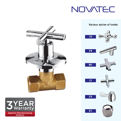 Novatec 1 Inch Concealed Full Turn Stopcock T7-1117A-FT